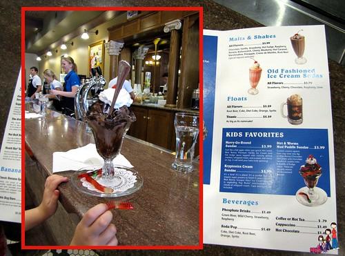 Ice Cream Sundae at Blue Bunny Ice Cream Parlor