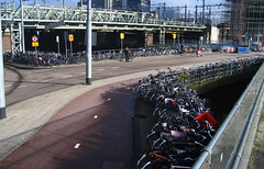 What really green commuting looks like: bikes, trams, boats, busses, and trains