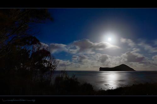 ocean sunset sea moon beach night hawaii twilight oahu moonrise 169 windward makapuu ironwoodtree rabbitisland 16x9 mananaisland hdformataspectratio