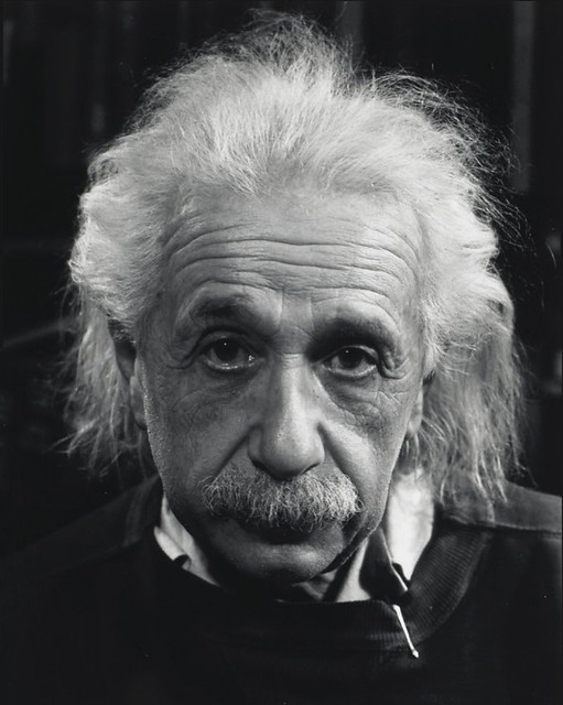 Albert Einstein by Philippe Halsman, 1947