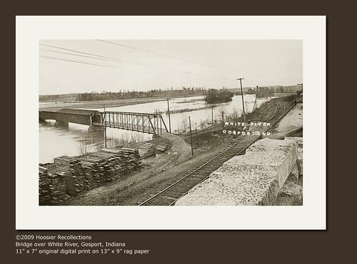 usa history sepia bridges indiana transportation rivers streams roads railroads gosport realphoto hoosierrecollections