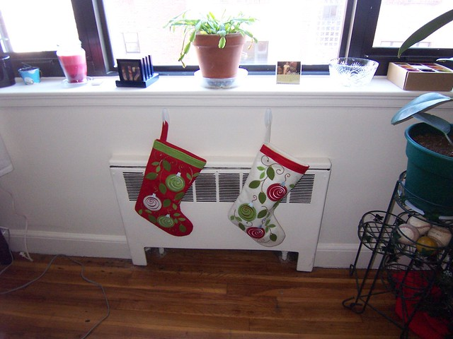 our stockings on the radiator