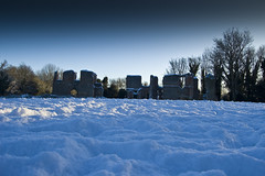 Sopwell Nunnery in the snow