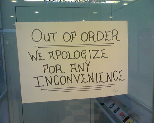 we apologize for any inconvenience