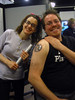 Tattoo - Katie and Me with the final product covered in Vaseline For more geek