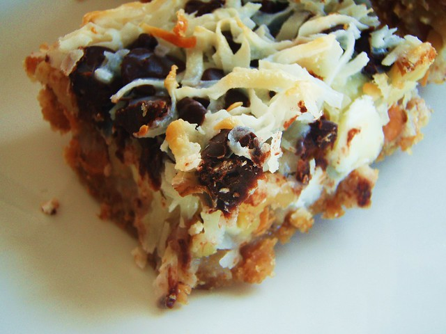 7 Layer Bars Eagle Brand http://www.flickr.com/photos/taleitalei/4407092487/