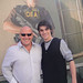 Breaking Bad stars Dean Norris (Hank) and RJ Mitte (Walt Jr) outside the Screening Lab in Hollywood by Doug Kline