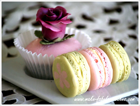 Rose Cupcakes and Macarons