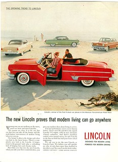 The 1954 Lincoln Line At The Beach