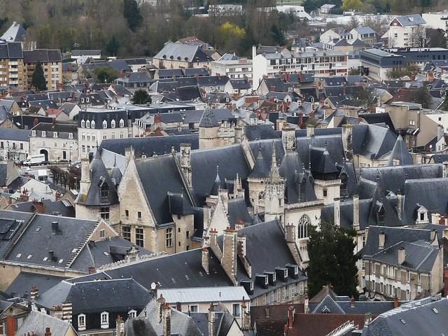 Palais Jacques Coeur, vue de la Tour Nord de la Cathédrale de Bourges