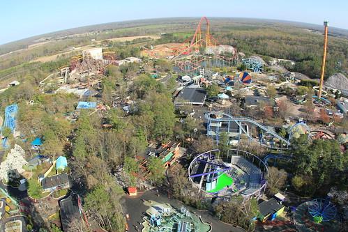 park sky amusement view eiffeltower fisheye land kingsdominion observationdeck