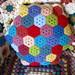 Crochet Hexagon cushion by bunny mummy