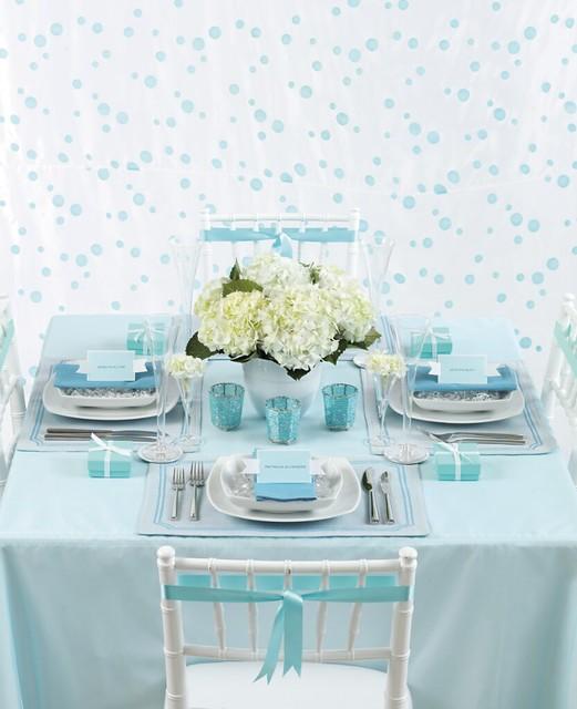 Tiffany Blue Wedding Decorations: Tiffany Blue Table Setting