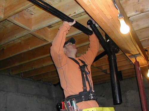 Photo: March 16, 2004 -Rough plumbing