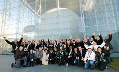 Virgin Galactic Founders celebrate the unveil of Virgin mothership and spaceship designs, New York, Jan 08