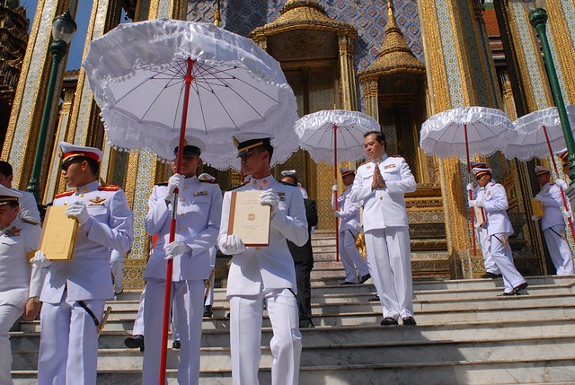 Celebration of Chulachomklao of Siam Tipitaka by Ministry of Defense Bangkok