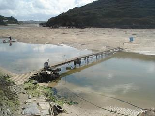 footbridge over river gannel