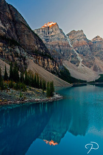 First Light Moraine Lake
