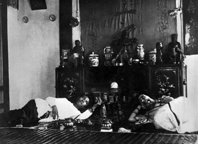 Opium smokers in Hanoi