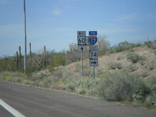 arizona sign junction intersection shield us60 maricopacounty i17 interstatehighway ushighway az74 arizonastatehighway