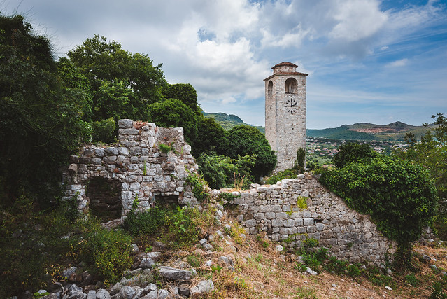 Clock Tower and Ruins of Old Bar, Montenegro