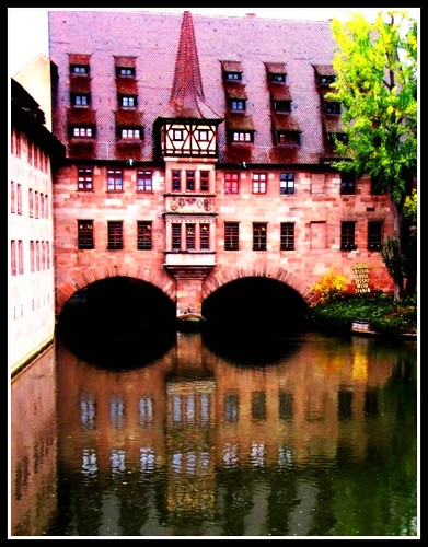 Medieval Buiding Reflection, Nurenberg, Germany