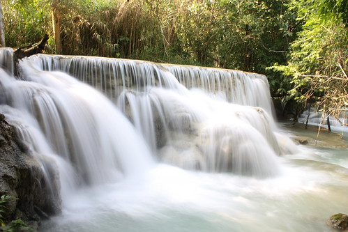 Koung Si Waterfall, Laos by n.hewson