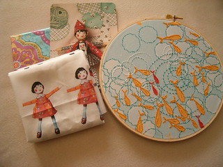 """Hand Stitched"" Embroidery SWAP , received :))"
