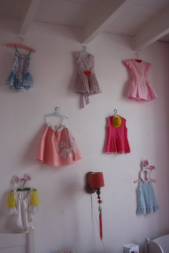collection of vintage girls costumes