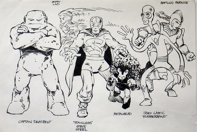 Age tmnt justice force character designs art by peter laird