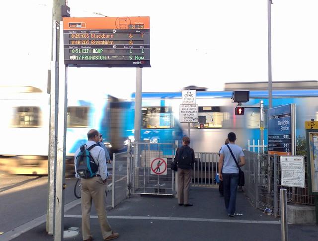 Bentleigh station, morning peak