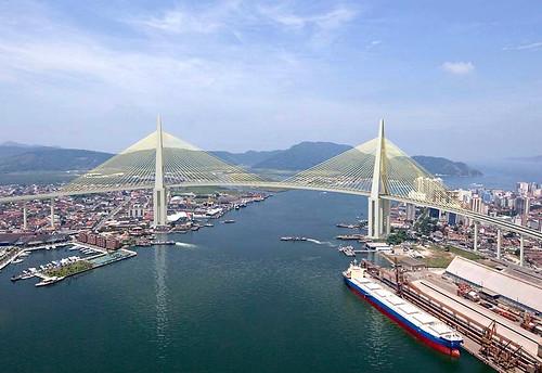 Governo de SP anuncia projeto para ponte entre Santos e Guarujá