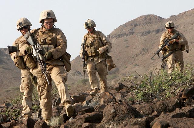 Marines traverse rocky terrain | Flickr - Photo Sharing!