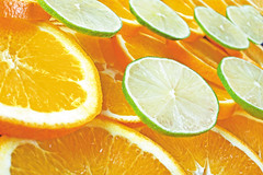 orange and lime slices by aragami