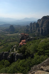 view from convents meteora