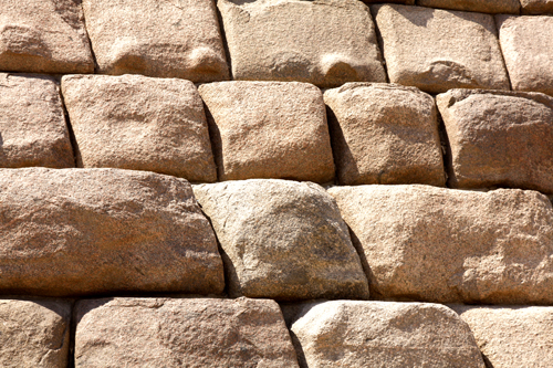 Beautiful red granite stones at the base of the Pyramid of Menkaure