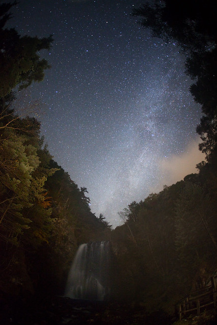 Milky Way waterfall