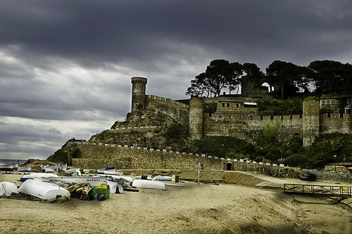 Tossa desde la playa - Tossa from Beach - Girona - Spain