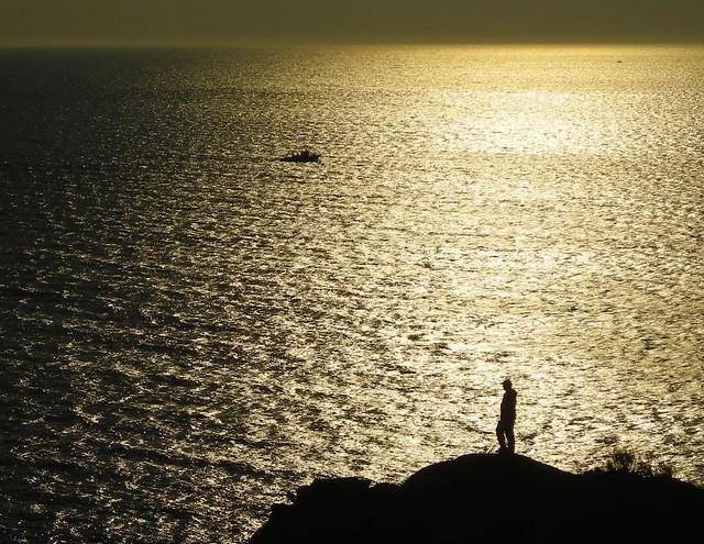 Solpor en Cabo Home, Cangas do Morrazo