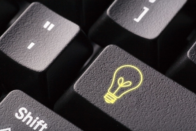 Lightbulb Idea Computer Key