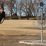 Mike Livingston watches his putter fall after hitting the rim at Expo Park