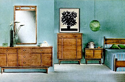 Mid century living bedrooms 1960 65 for 1960 bedroom furniture for sale