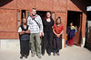 My husband and me with two Apatani women in the village of Hong, Arunachal Pradesh