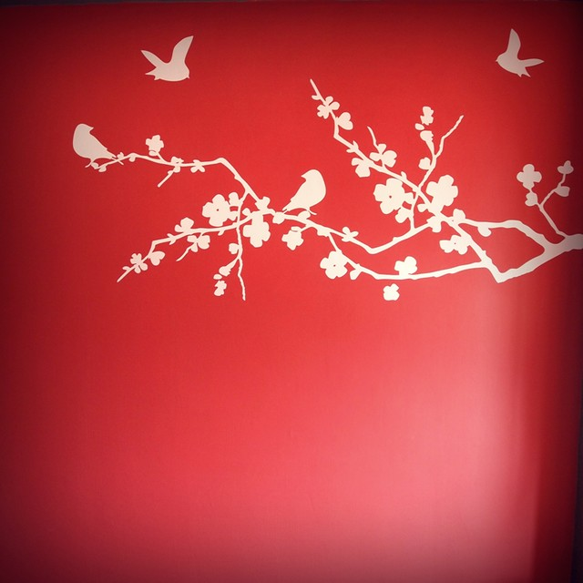 The wall decal.