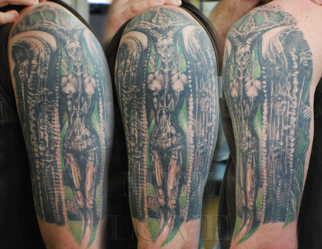 H. R. Giger tattoo | Flickr - Photo Sharing! H.r. Giger Tattoo