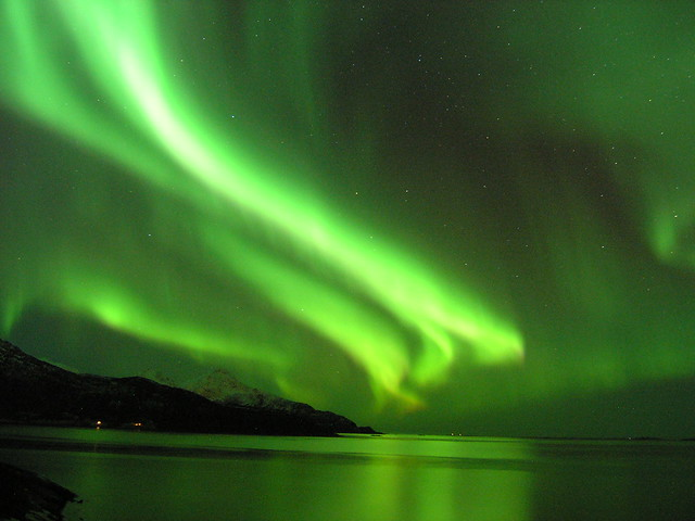 The Northern Lights over Tromso:  Photo from Flickr by Gunnar Hildonen