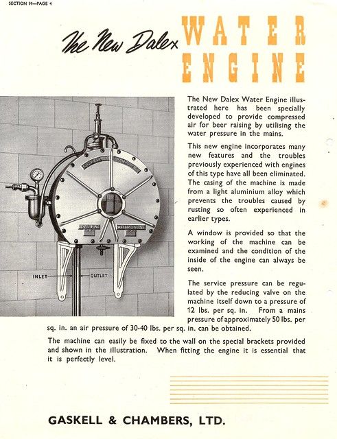 Gaskell & Chambers 'Dalex' Water Engine, 1954
