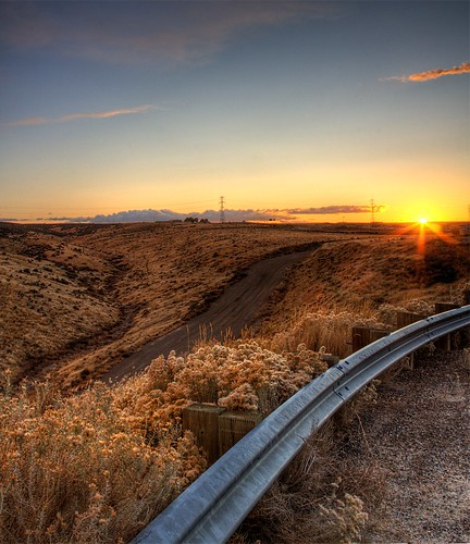 road wood sunset sky sun fall nature clouds canon washington highway desert path horizon dirt flare wa barrier dirtroad hdr highdynamicrange gravel tumbleweeds sagebrush kennewick ruleofthirds tricities 3xp unnaturalnature tonemapped vertorama philerooski