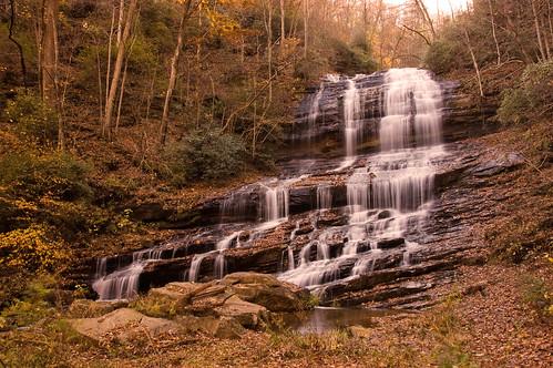 autumn fall waterfall northcarolina glen saluda tryon pearsonsfalls tryongardenclub