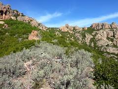 Sur la crête Cervi/Peralzone : Bocca di Monte Bracciutu au fond